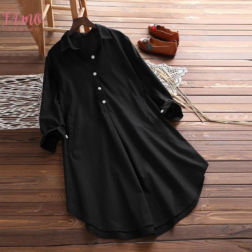 Été, Automne, longue blouse Loose Women Casual shirt col V à manches longues en mousseline de soie Slim Inregular Shirt Femme Blusa Tops Chemisier Nouveau