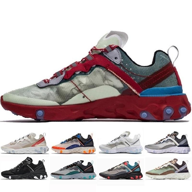 Sapatos casuais Hot Original respirável fio mesh navio Mulheres Mens Tamanho livre US 5,5-11 Reagir Elemento 87