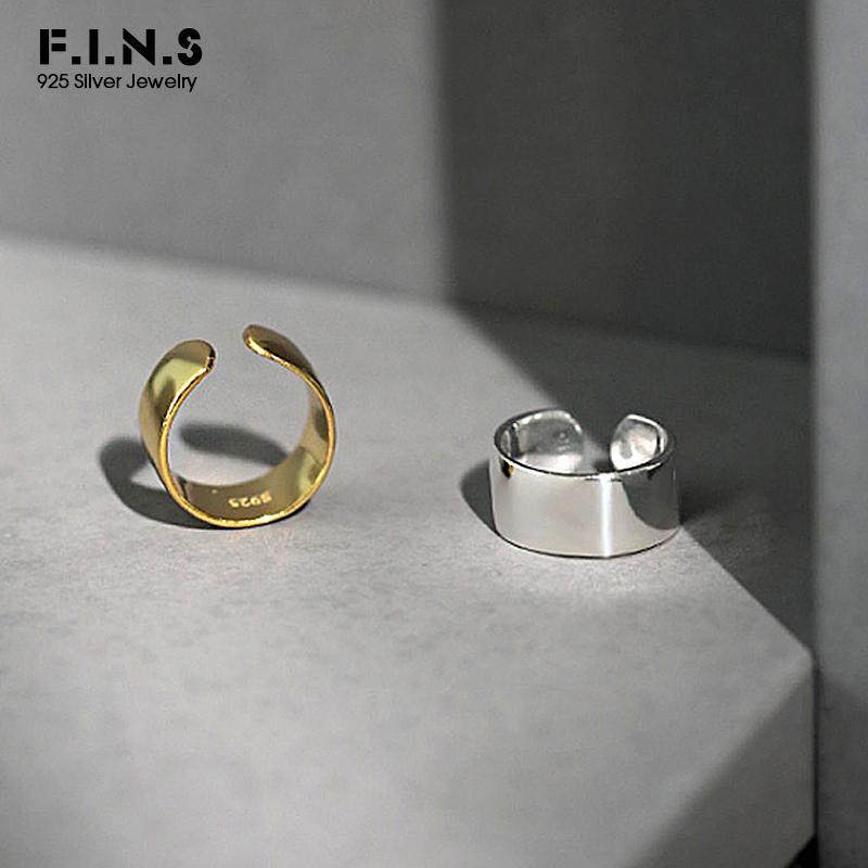 F. I. N. S 1шт корейский стиль серебро 925 ювелирные изделия ушной зажим без проколотой геометрии простой ушной манжеты стерлингового серебра 925 пряжки