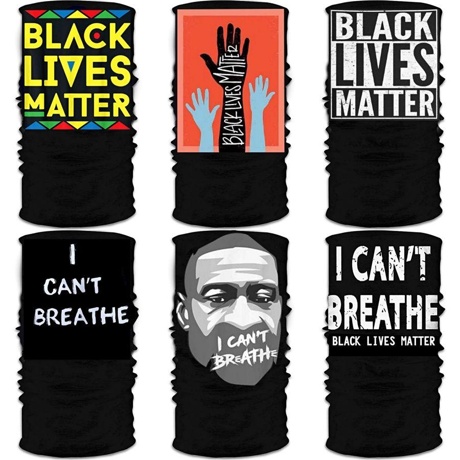 I Cant Breathe! Noir Lives Matter Cycling Masque de protection solaire visage adulte Randonnée er magie noire Écharpe vie Matière Cyclisme Bandana 25 * # 560