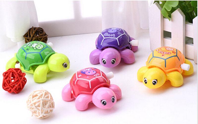 Pudcoco Unisex Spielzeug Mini Uhrwerk Schildkröte Huhn Kunststoff Nettes kleines Tier Schildkröte Wind Up Toys Kinder educatinal zufällige Farbe