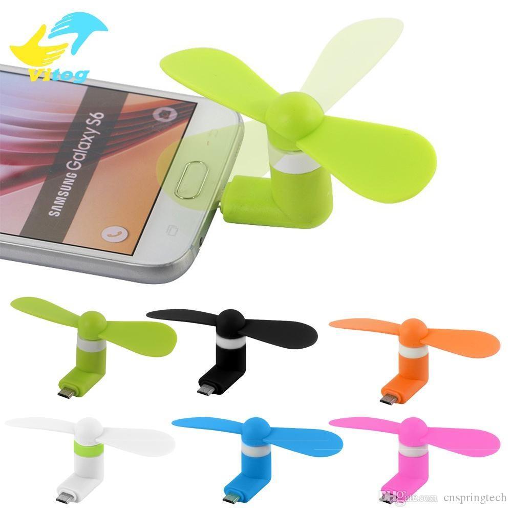 Mini cool micro usb ventilador de telefone móvel 2 em 1 usb ventilador de telefone celular para o tipo-c micro usb para iphone xs max xr x 8 7 samsung