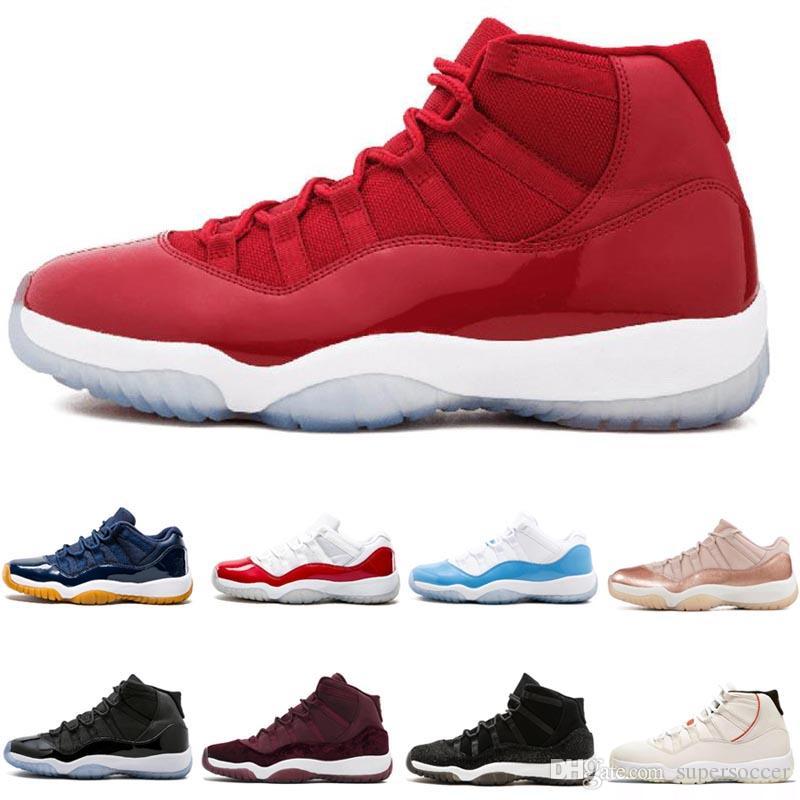 Barato 11 Branco Vermelho Cap and Gown Ginásio Vermelho Preto Stingray Meia-Calça Marinha Criados Sapatos 11 s mens tênis de basquete Sapatilha