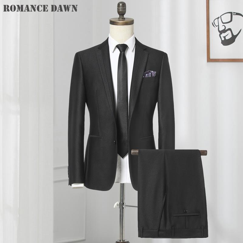 abiti da uomo due pezzi di autunno e inverno le nuove serie di abiti a due pezzi giacca vestiti degli uomini di modo di business casual