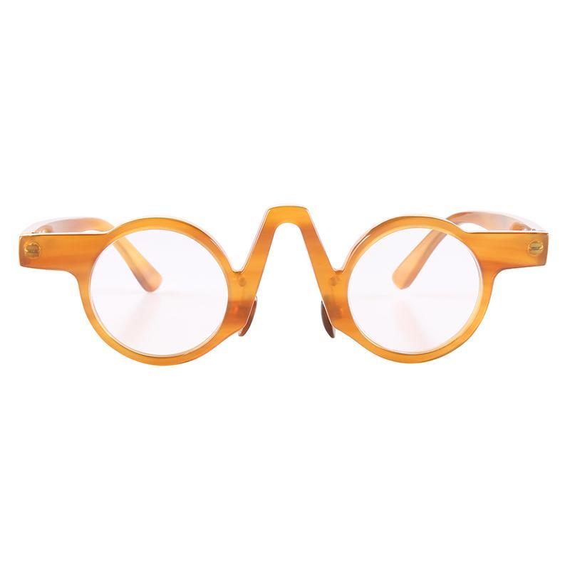 LUJO DE LUZ DE LUZ DE ALTA CALIDAD V Puente de arco pequeño Café de color naranja de color naranja indio Marco de gafas de sol de lectura de lentes marco de lentes