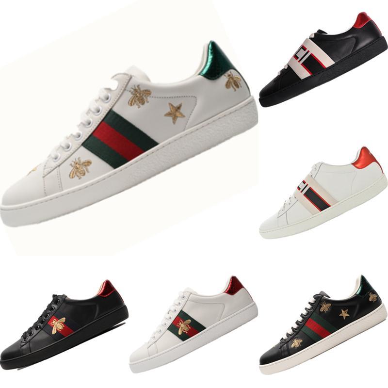 2020 Cucci Ace İşlemeli küçük arı Düşük Kesim Spor Ayakkabı Originals Ace Küçük Arı İşlemeli Dahili Zoom Air Kaykay Sneaker