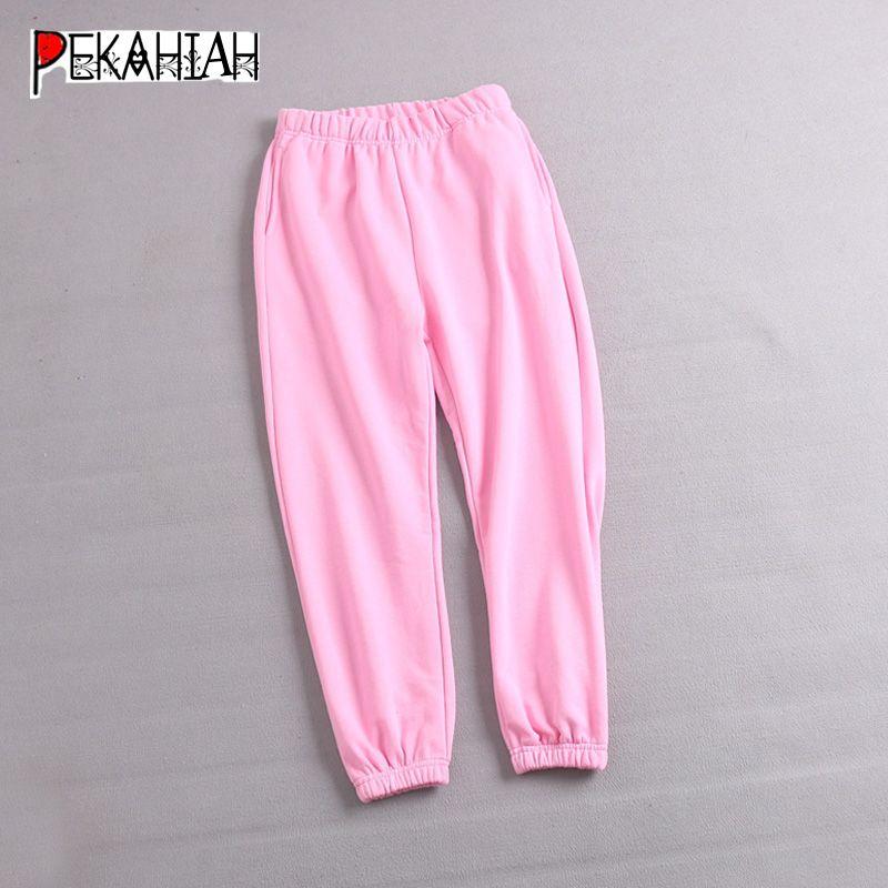jogging alti pantaloni della tuta vita Donna streetwear abbigliamento donna pantaloni verdi coreano mutandine vintage neri pantaloni rosa goth 2020