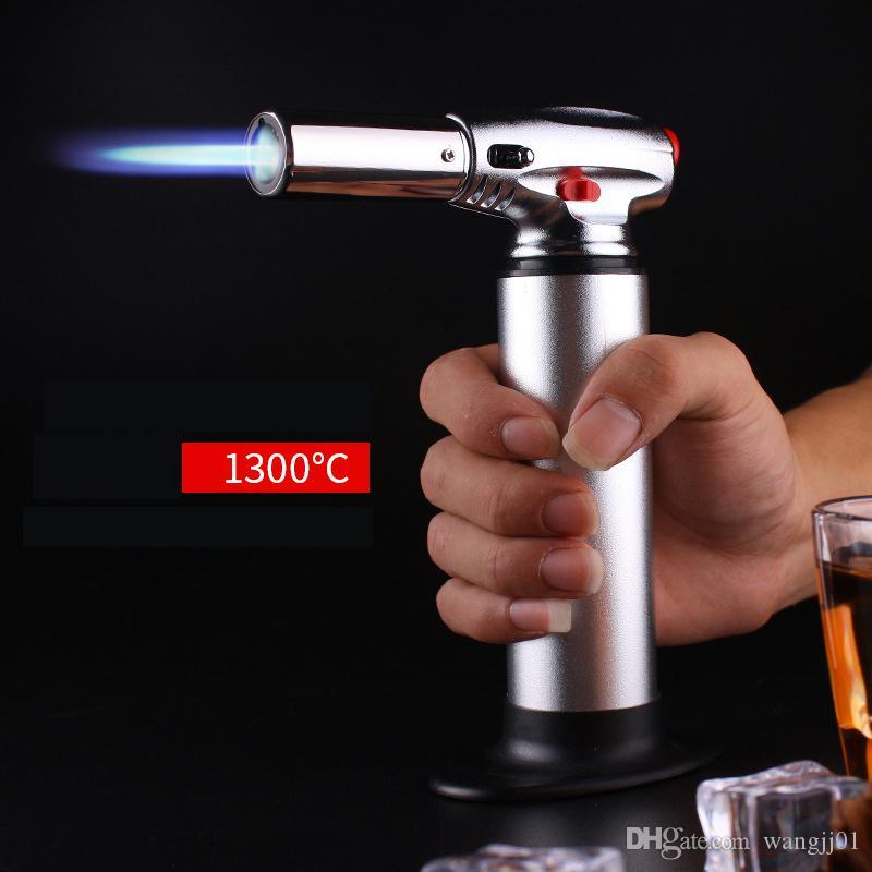1300C Butano Scorch Torch Jet Flame Tocha Isqueiro Tocha Tocha Gigante Pesado Butano Recarregável Micro Culinary auto-inflamando ferramenta de piquenique