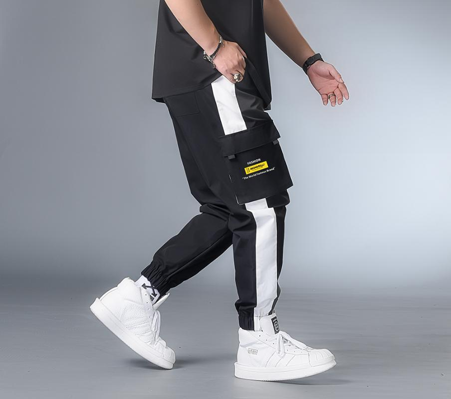 7XL 6XL XXXXL Men Streetwear Cargo Pants 2020 Clothing Man Color Block Harem Pants Male Hip Hop Spring Joggers Sweatpants