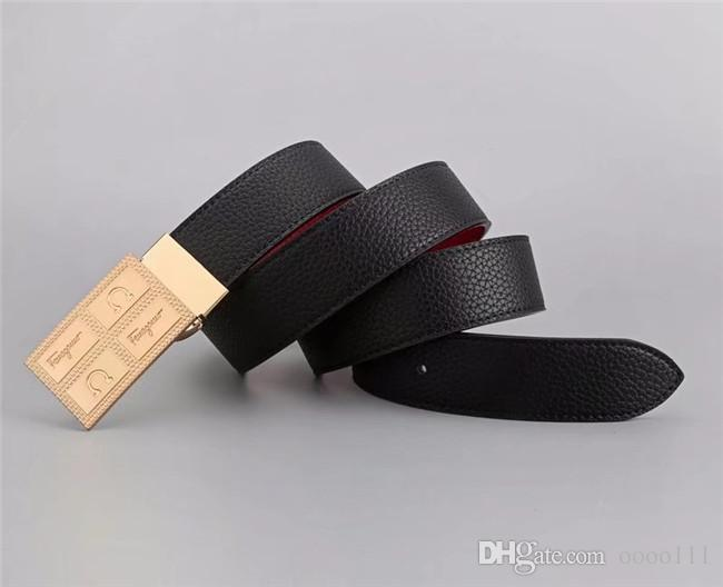 Fashion big buckle Mens Business designer Belts Luxury Ceinture Automatic Buckle Genuine Leather Belts women Men High quality with