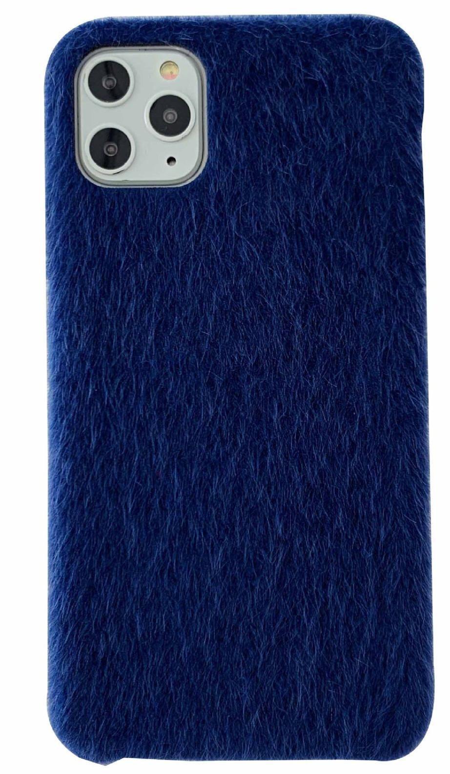 IPhone 11 xsmax XR 7 8plus için katı Peluş kılıf 6 renklerle kışın kullanıma uygun