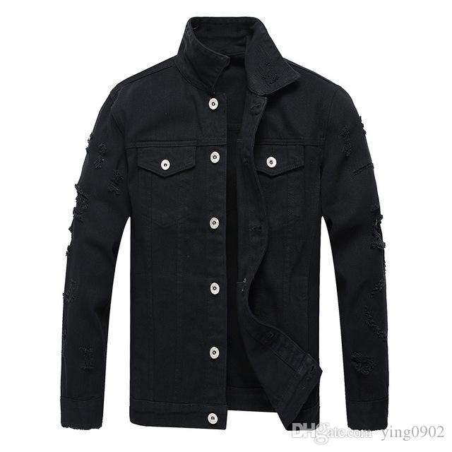 giacche di jeans da uomo giacche europee e americane moda giacca di jeans uomini punk sottile denim maschile progettista di