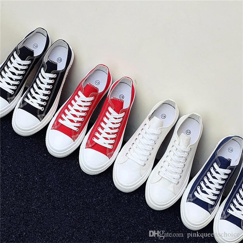 Fashion Teen Straße Outfits 50% der Marken-Männer Ulzzang Plimsolls Frauen-Frühlings-Schuhe Fall Teenager Schuhe Solid Color Freizeitschuhe