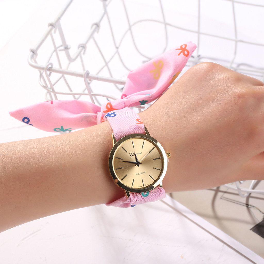Small Fresh Soft Girl Watches Flower Cloth Design Fashion Women's Dress Wrist Watch Sweet Girl Bracelet Watches kol saati