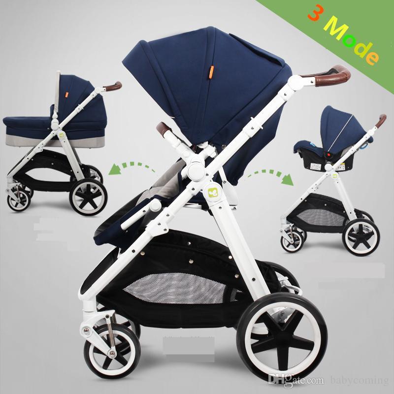 Sistema 3 en 1 para el viaje recién nacidos, asiento del cochecito de bebé con el coche, Cochecito / Cochecito de bebé, cochecitos de niño por 0-3 años