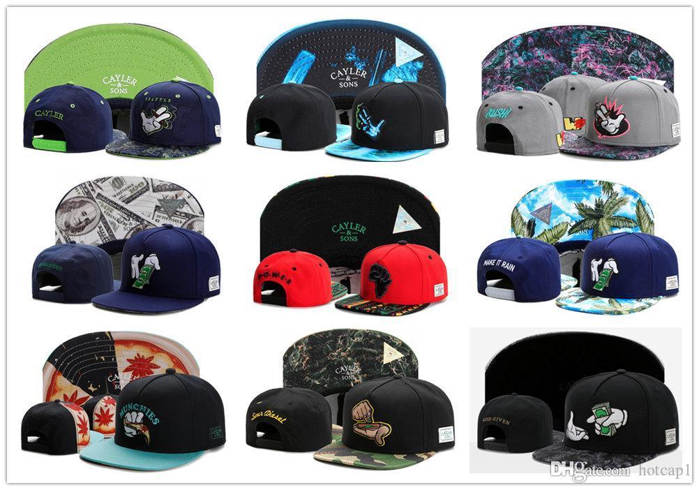 أحدث البحرية بوبا كوش كايلر أبناء Weezy Snapback Hat رخيصة الخصم قبعات Cayler و Sons Snapbacks قبعات على الانترنت الشحن مجاني قبعات رياضية