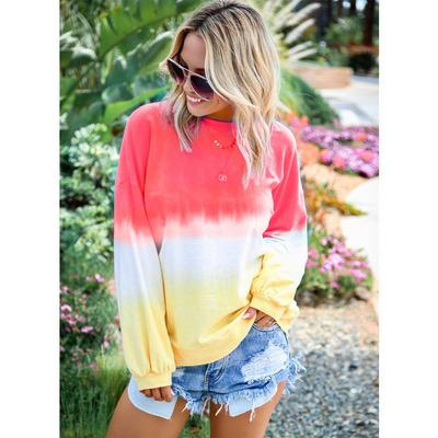 Felpa con cappuccio arcobaleno donna Moda 2019 Nuovo arrivo Autunno Felpe di lusso Casual Gradiente Colore Donna Plus Size Top Abbigliamento Taglie S-5XL 111