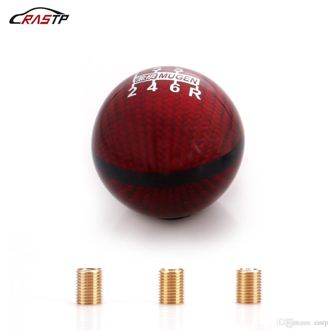 Carbon Fiber Ball Refit Auto Car Manual Gear Shift Knob Shifter Lever /& Screws
