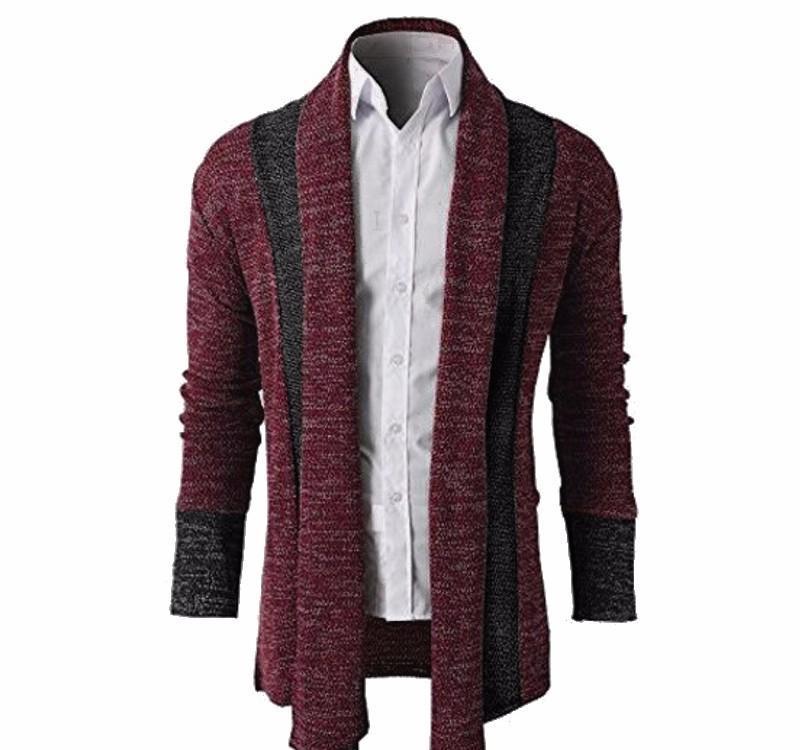 Sweater Men Splicing Cardigan Knitwear Pull Homme Cashmere Sweaters