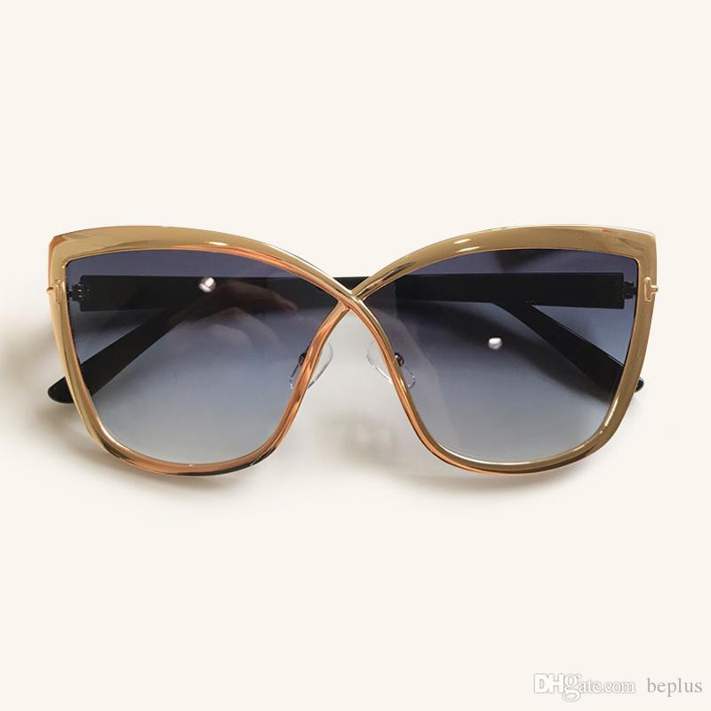 2019 New Sexy Cat Eye Sunglasses For Women Mirror Sunglasses Vintage Retro Acetate Frame Sun Glasses Eyewear Shade With Packing Box