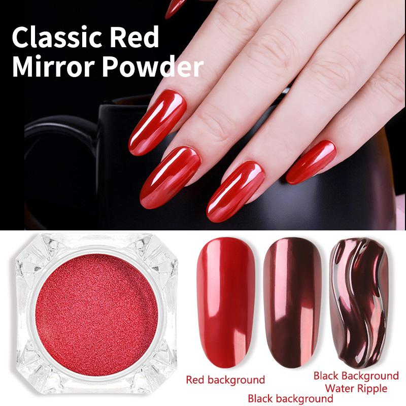 Classic Red Color Mirror Effect Nail Art Powder Glitter Long Lasting Shiny Nails Tips Powder Pigment Manicure Decoration Dust Gel Nail Glitter Acrylic Nails Glitter Tips From Rainbow Company 0 64 Dhgate Com