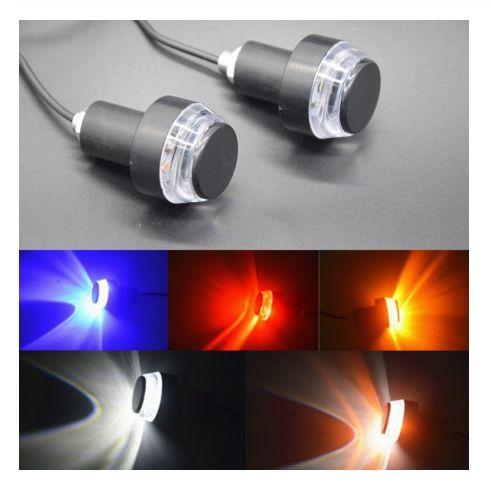 LED Lenker Motorrad Blinker Licht Gelb Rot Blau Anzeige Flasher 22mm Bar End Universal-Blinker