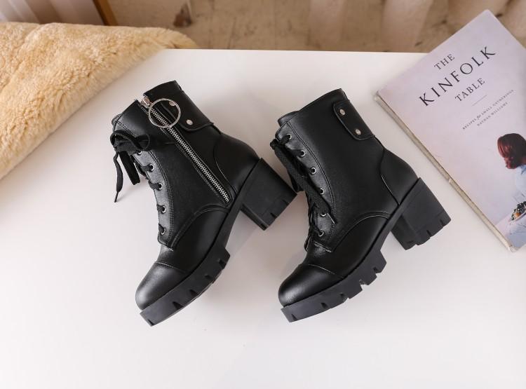 Grande taille 9 bottes femmes 11 au 15 octobre chaussures bottines pour la fermeture à glissière côté femme femmes dames chaussures hiver Croix