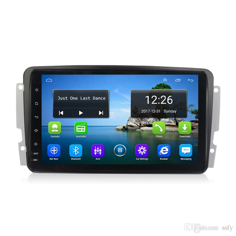 Android 4G LTE Built-in Wifi Microphone car GPS Navitel Radio AM FM,mp3 mp4 MUSIC for Mercedes Benz CCLKG class W203 W209 vito viano 8inch