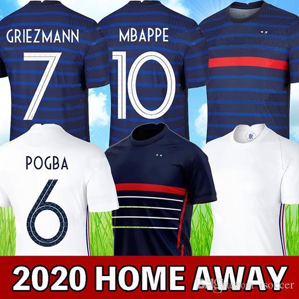 2020 فرنسا لكرة القدم جيرسي 100th فرنسا مايوه دي القدم HERNANDEZ VARANE GIROUD THAUVIN كانتي POGBA أعلى تايلند نوعية قميص كرة القدم