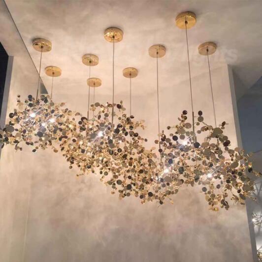Luzes Pingente Sombra de aço inoxidável sala de jantar moderna Pendant lâmpadas LED luminária suspendu Restaurante Sala luz Fixtur