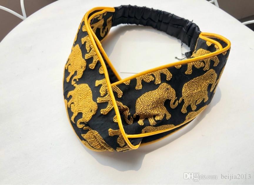 Famous Sumptuous Silk Cross Women Headband Elastic Headbands Scarf Hair Accessories Retro Turban Headwraps Gifts Best Quanlity Hair Bands