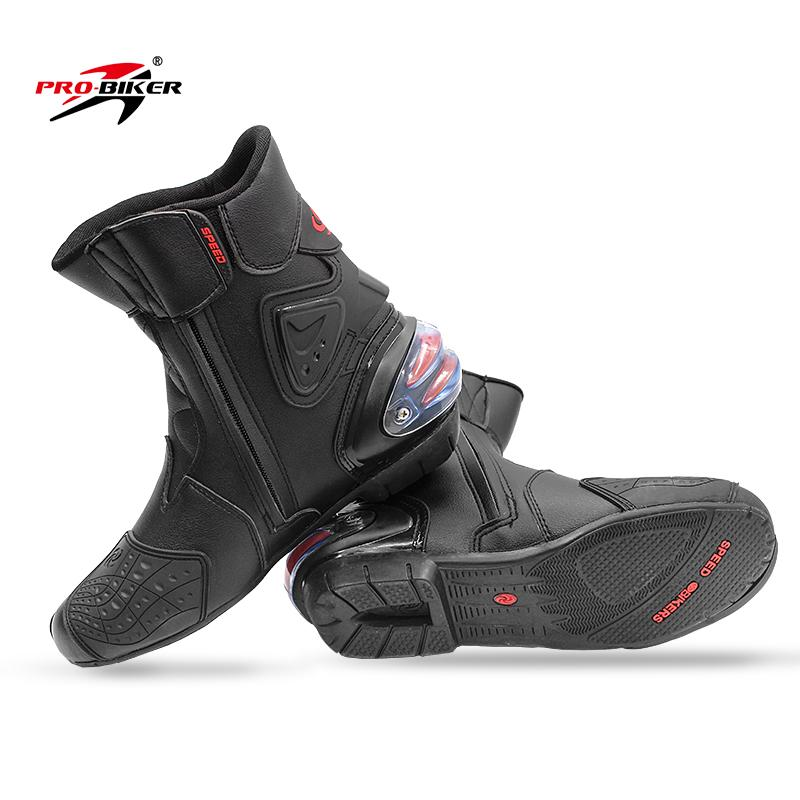 Motorbike Racing Boots Motorcycle Cycling Sports Shoes - 40/41/42/43/44/45 Mid-Calf