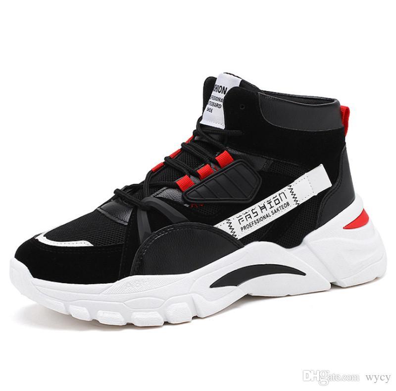 2019 Alta qualità Scarpe da stiro di moda in maglia selvatica di alta qualità Sneakers triple sneaker selvatiche tre colori uomini in esecuzione scarpe da esterno