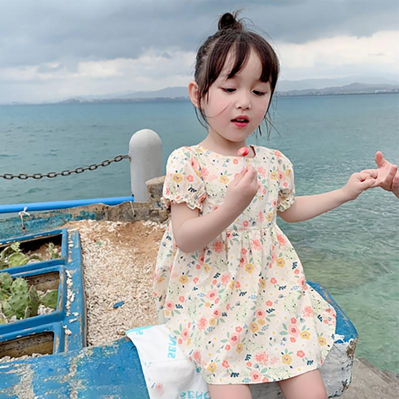 Girls Dresse Summer Toddler Girls Clothes Short Sleeve Princess Infant floral dress Ruffle Party Kids Dresses For vestidos