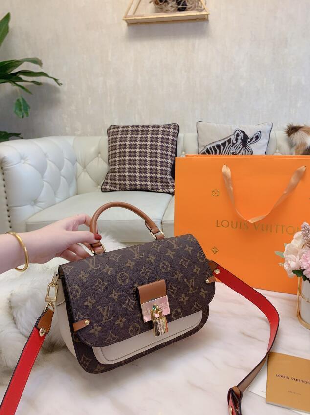 Elegante e combinazione unica di singolo sacchetto di spalla borsa a tracolla larga classica signora temperamento semplice formato di 3 colori facoltativi: 25 cm