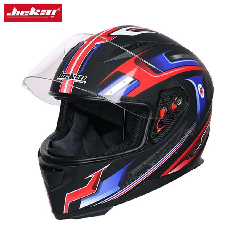 JIEKAI JIEKAI Motorcycle Helmet Universal Full Face Helmet Windproof Dual Lens Anti-Fog Sun Protection Men Moto Casco,K-313