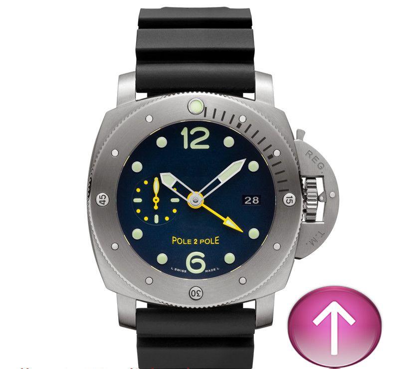 E6-Black Farbe Mode automatische Edelstahl Luxus Casual Style schöne hochwertige Herrenuhr.