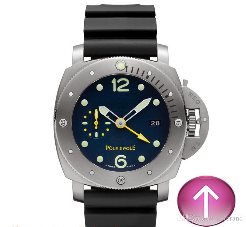 E6-Colore nero moda automatica in acciaio inossidabile di lusso stile casual bello orologio da uomo di alta qualità.