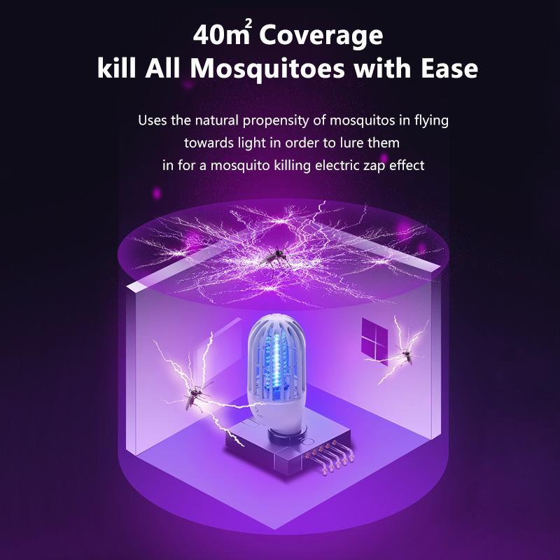 Baseus Elektrikli Sivrisinek Killer Lambası Fly Bug Zapper Böcek Öldürücü LED Işık Tuzağı Haşere Kovucu Anti Mosquito Gece Işığı Kapalı