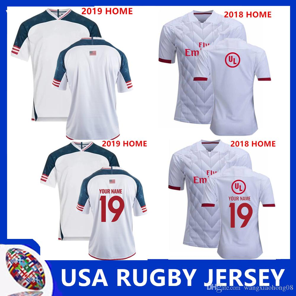 National Rugby League USA United States Rugby jerseys navy blue 2018 2019 USA rugby mens shirts Size S-3XL