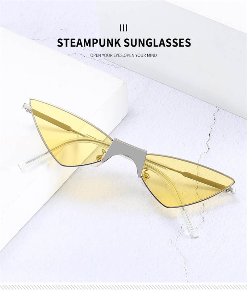 Para hombre del verano Mujer Del hombre de la manera gafas de sol gafas de sol UV400 de las mujeres Punk opcional muy Quality5