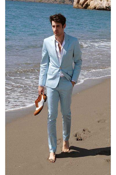 differently footwear new appearance 2019 Light Blue Beach Casual Men Suit Summer Wedding Suits For Men Slim Fit  Suits With Pants Best Man Party Prom From Redbud06, $131.01 | DHgate.Com