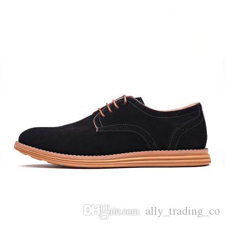 The New England Trend Freizeitschuhe Männliche Wildleder Oxford Lederkleid Schuhe Leder Brogue Herren Wohnungen Schuhe Für Männer