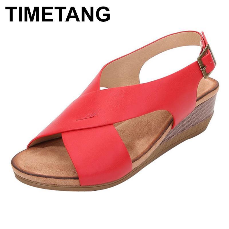 TIMETANGWomen zapatos clásicos de las señoras de la banda elástica de las sandalias planas de los zapatos para mujer de verano de las mujeres opentoe transpirable calzado cómodo hueco