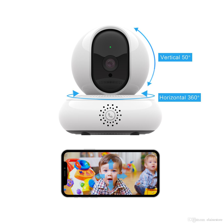 WIFI Videoüberwachung 200W DPI HD Internet Motion One-Taste Anrufe 360 Grad PanoramzcView 3D-Videokamera
