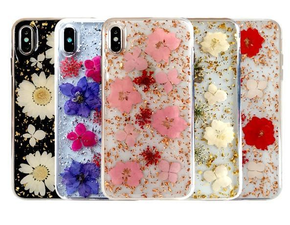 HOT Hyun flower for iPhonex max Epoxy phone shell dried flowers real flower Epoxy mobile phone protective shell iphone 11max