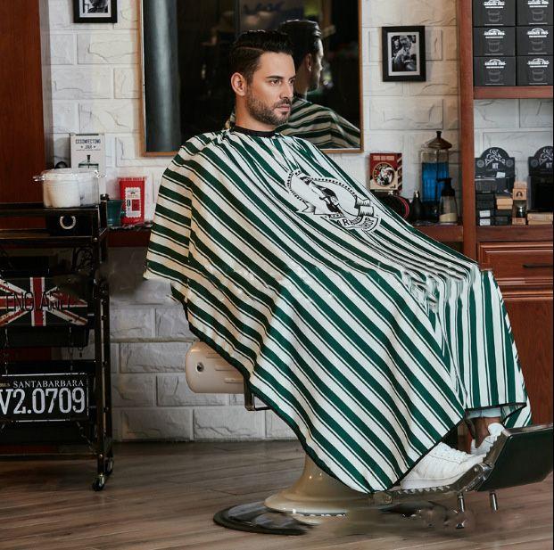 2 colores Styling Salon cabos de corte de pelo de peluquería Vestidos para el peluquero del estilista del corte de pelo de tela a rayas envío libre