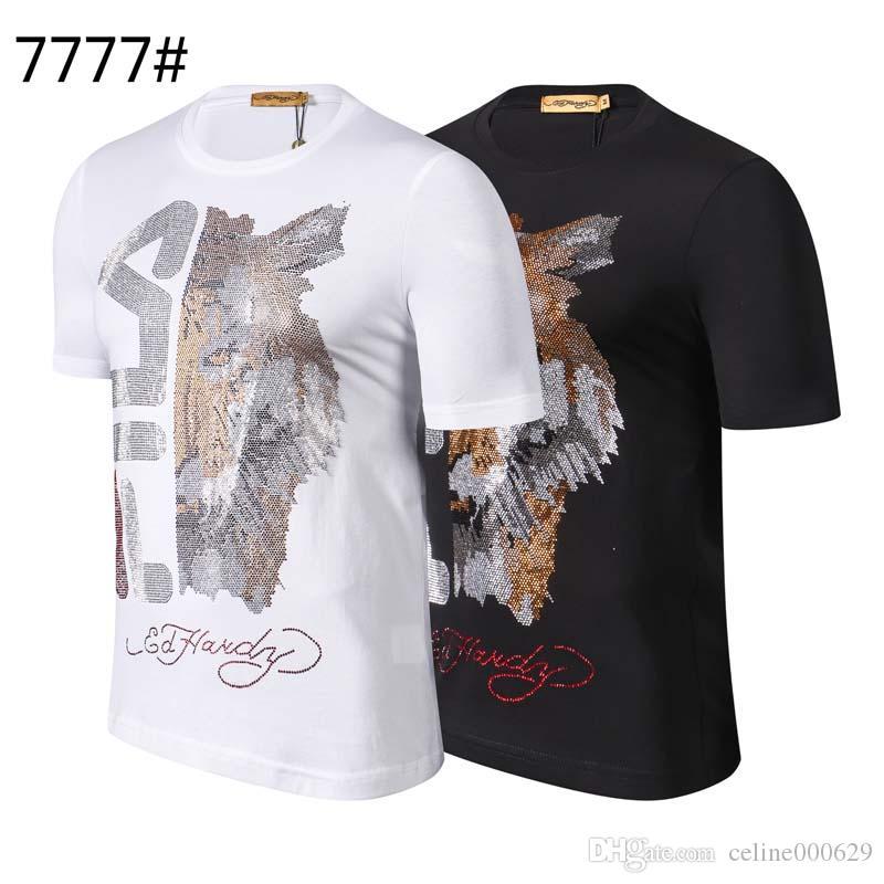 Fashion skull T-shirt quality 3D skull funny print T-shirt Italy men hip-hop O-neck short-sleeved T-shirt men PP diamond shirt VS22