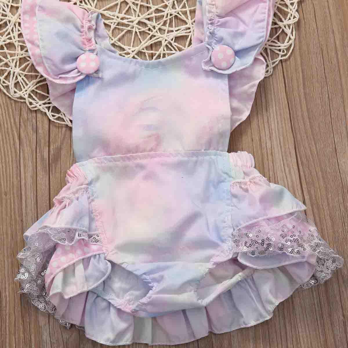 0-24M Neonato Boutique Vintage Lace Ruffle pagliaccetto principessa pagliaccetto sveglio tuta Outfits prendisole Abbigliamento