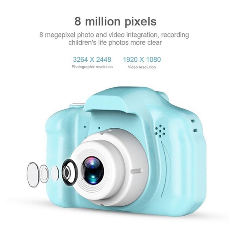Câmera DC500 Full Color Mini Digital para crianças das crianças do bebê bonito câmara de vídeo para crianças com câmara gravador de vídeo digital